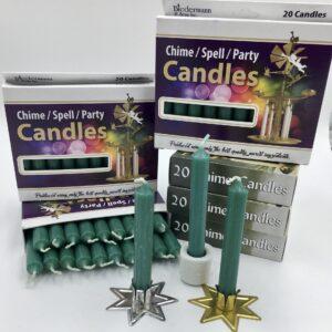 Green box of 20 mini candles