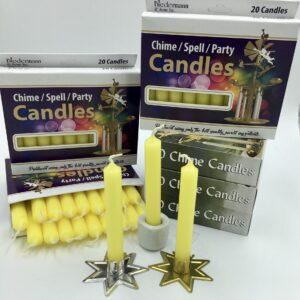 Yellow box of 20 mini candles