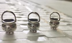 tiny cauldrons sterling silver