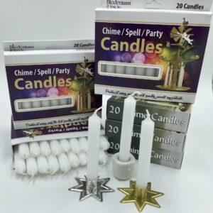 White box of 20 mini candles