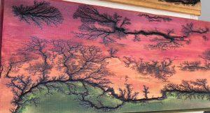 Fractal Burn Art Sunset