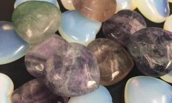 gemstones hearts at pathways