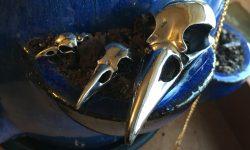 Pewter Bird skulls