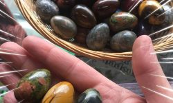 easter gemstone eggs
