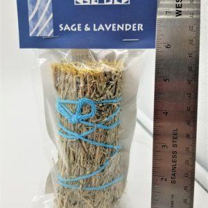 lavender and sage smudge bundle stick small