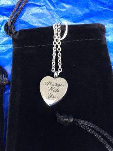 Memorial ash pendant
