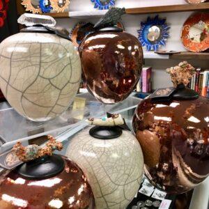 Raku pottery, perfect for holiday gift giving!